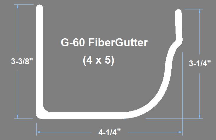 G-60 Fiberglass Gutter