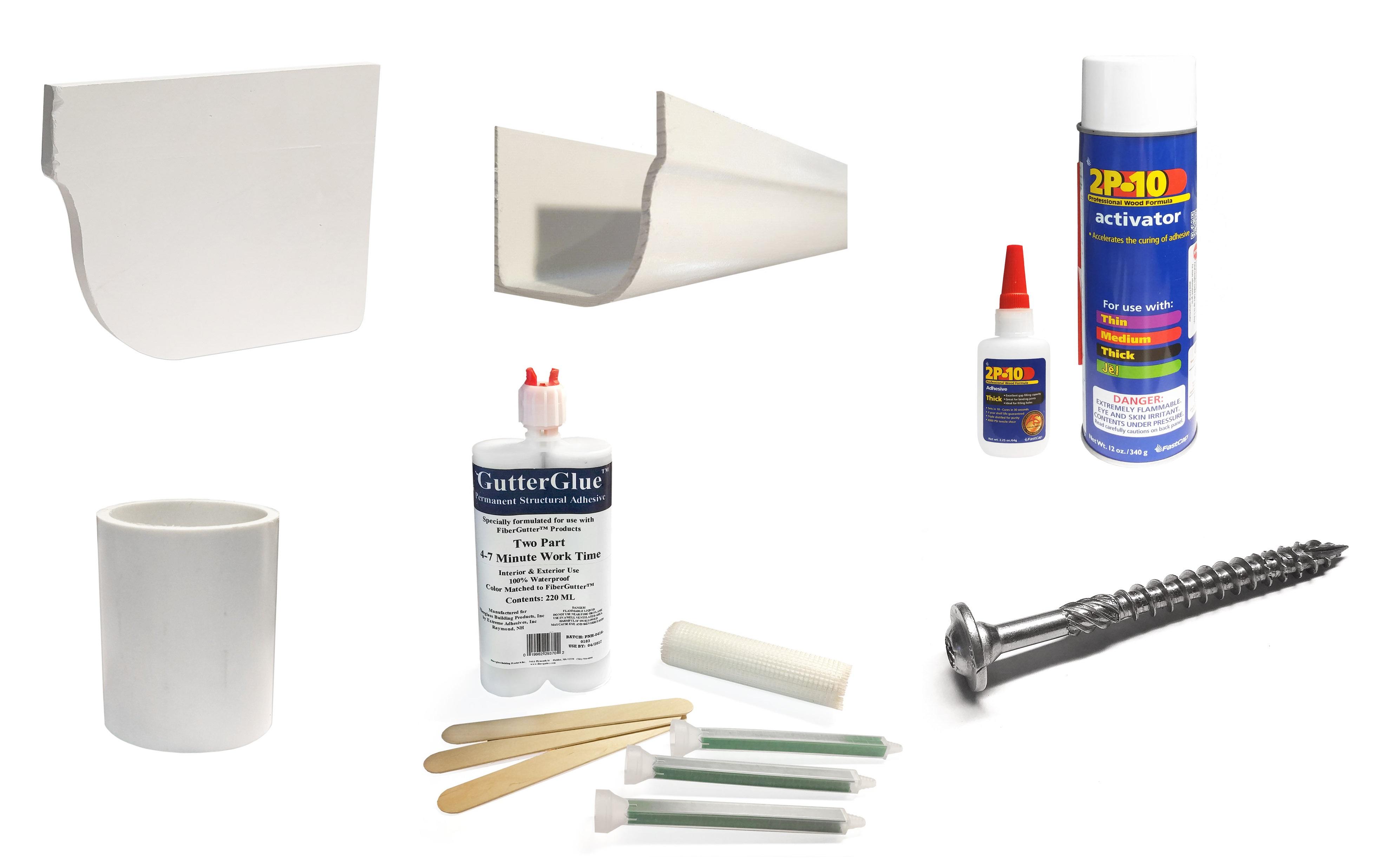 fiberglass gutter accessories